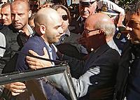 Anniversario omicidio del giornalista Giancarlo Siani trucidato dalla Camorra nel 1985<br /> nella foto Roberto Saviano Luigi Merolla