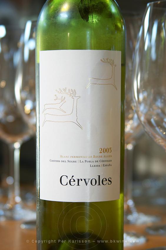 Cervoles 2003 white. Castel del Remei, Costers del Segre, Catalonia, Spain.