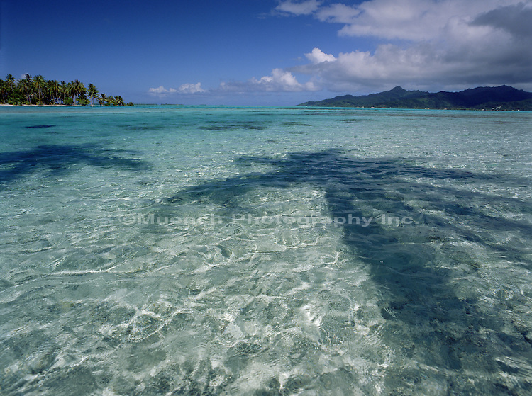 Ocean Lagoon from Matu Mahan, Tahiti, Society Islands