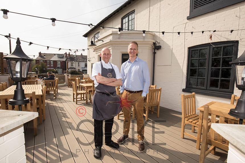 Mark Osborne (left) and David Hage of The Railway, Lowdham, Nottingham