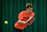 Wateringen, The Netherlands, December 1,  2019, De Rhijenhof , NOJK 12 and16 years, Final boys 16 years: Brian Bozemoj (NED)<br /> Photo: www.tennisimages.com/Henk Koster