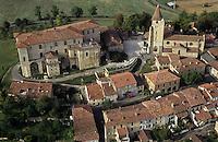 Europe/France/Midi-Pyrénées/32/Gers/Lavardens: La Bastide - Vue aérienne
