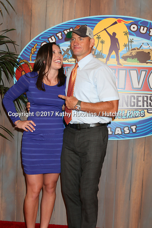 "LOS ANGELES - MAY 24:  Sarah Lacina, Brad Culpepper at the ""Survivor: Game Changers - Mamanuca Islands"" Finale at the CBS Studio Center on May 24, 2017 in Studio City, CA"