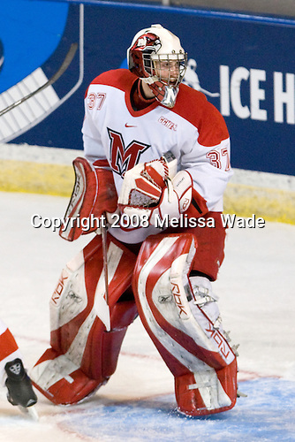 Jeff Zatkoff (Miami - 37) - The Boston College Eagles defeated the Miami University RedHawks 4-3 in overtime on Sunday, March 30, 2008 in the NCAA Northeast Regional Final at the DCU Center in Worcester, Massachusetts.