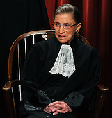 Associate Justice Ruth Bader Ginsburg and the Supreme Court Justices of the United States sit for a formal group photo in the East Conference Room of the Supreme Court in Washington on Friday, October 8, 2010.  .Credit: Roger L. Wollenberg - Pool via CNP