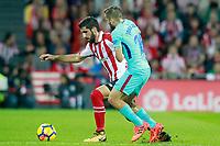 Athletic de Bilbao's Raul Garcia (l) and FC Barcelona's Jordi Alba during La Liga match. October 28,2017. (ALTERPHOTOS/Acero) /NortePhoto.com