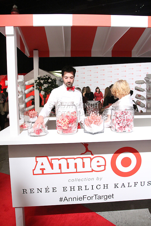 Candy cart available at the Annie For Target collection celebration and pop-up shop at Stage 37 in New York City on November 4, 2014.