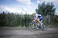 Later race winner Aimé De Gendt (BEL/Wanty Gobert) riding a off-road sector. <br /> <br /> Antwerp Port Epic 2019 <br /> One Day Race: Antwerp > Antwerp 187km<br /> <br /> ©kramon