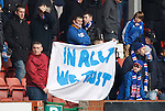 In Ally We Trust. Fans banner at kick off