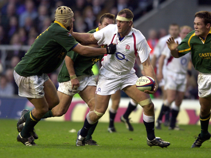 Photo: Richard Lane..England v South Africa. Investec Challenge at Twickenham. 23/11/2002..Richard Hill.