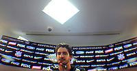 SÃO PAULO,SP,12MARCO 2013 - TREINO CORINTHIANS.  Pato  durante treino do Corinthians no CT Joaquim Grava, no Parque Ecologico do Tiete, zona leste de Sao Paulo, na tarde desta terca feira . O time se prepara para o jogo  contra o Tijuana  em Sao Paulo valido pela primeira Libertadores da America 2013. FOTO ALAN MORICI - BRAZIL FOTO PRESS