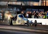 Feb 1, 2018; Chandler, AZ, USA; NHRA top fuel driver Tony Schumacher during Nitro Spring Training pre season testing at Wild Horse Pass Motorsports Park. Mandatory Credit: Mark J. Rebilas-USA TODAY Sports