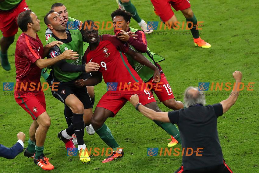 Esultanza Gol Eder (Portugal) goal celebration<br /> Paris 10-07-2016 Stade de France Football Euro2016 Portugal - France / Portogallo - Francia Finale/Finals<br /> Foto Gwendoline Le Goff / Panoramic / Insidefoto
