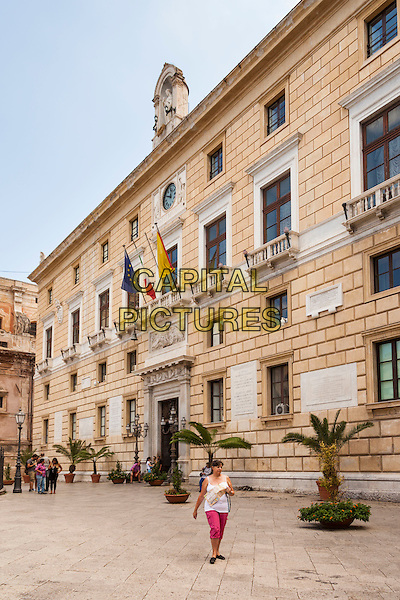 Town Hall, Palazzo Delle Aquile, Piazza Pretoria, Palermo, Sicily, Italy<br /> August 2015<br /> CAP/MEL<br /> &copy;MEL/Capital Pictures