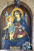 ITA, Italien, Umbrien, Assisi: Fresko - Wandmalerei | ITA, Italy, Umbria, Assisi: fresco - mural painting
