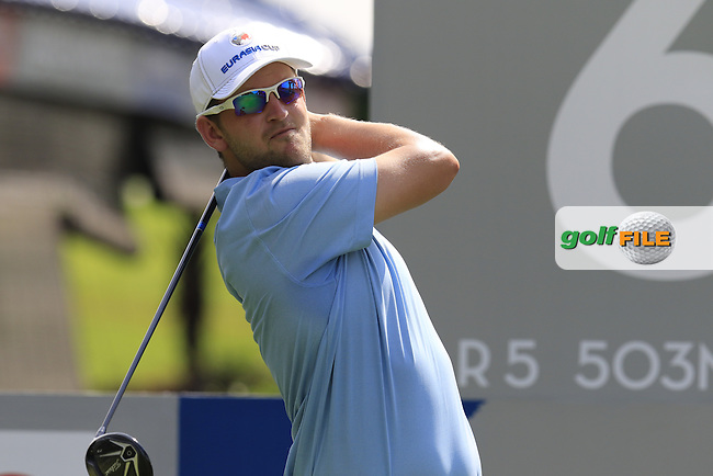 Bernd Wiesberger (AUT) European Team during Pro-Am Day of the 2016 Eurasia Cup held at the Glenmarie Golf &amp; Country Club, Kuala Lumpur, Malaysia. 14th January 2016.<br /> Picture: Eoin Clarke | Golffile<br /> <br /> <br /> <br /> All photos usage must carry mandatory copyright credit (&copy; Golffile | Eoin Clarke)