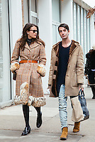 Alessandra Codinha and Edward Barsamian attend Day 3 of New York Fashion Week on Feb 14, 2015 (Photo by Hunter Abrams/Guest of a Guest)