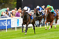 Winner of The Gift Of Sight Appeal EBF Novice Stakes Div 1   Cap Francois ridden by Andrea Atzeni and trained by Ed Walker during the Bathwick Tyres & EBF Race Day at Salisbury Racecourse on 6th September 2018