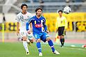 (R-L) Yuji Funayama (Montedio), Wataru Hashimoto (Reysol),MAY 3, 2011 - Football :2011 J.League Division 1 match between Montedio Yamagata 2-1 Kashiwa Reysol at NDsoft Stadium Yamagata in Yamagata, Japan. (Photo by AFLO)
