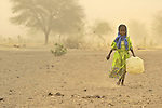 A girl displaced by violence in the Darfur region of Sudan.