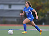 Kellenberg No. 21 Lena D'Amico moves the ball downfield during the NSCHSAA varsity girls' soccer Class AA championship against St. Anthony's at St. John the Baptist High School on Thursday, October 29, 2015. St. Anthony's won by a score of 3-0.<br /> <br /> James Escher