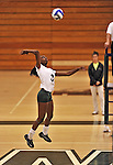 28 October 2012: Old Westbury Panthers Jocelyn Small, a Junior from Massapequa, NY, in action against the Yeshiva University Maccabees at SUNY Old Westbury in Old Westbury, NY. The Panthers defeated the Maccabees 3-0 in NCAA women's volleyball play. Mandatory Credit: Ed Wolfstein Photo