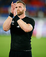 Kieran Read (captain) of New Zealand (All Blacks) during the Rugby World Cup Pool B match between the New Zealand All Blacks and South Africa Springboks at the International Stadium in Yokohama, Japan on Saturday, 21 September, 2019. Photo: Steve Haag / stevehaagsports.com