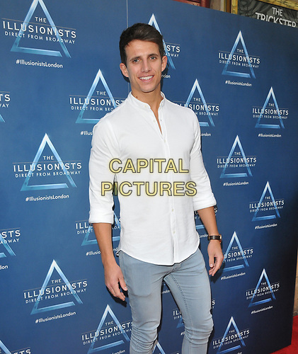 "Callum MacLeod at the ""The Illusionists"" show press night, Shaftesbury Theatre, Shaftesbury Avenue, London, England, UK, on Wednesday 10th July 2019.<br /> CAP/CAN<br /> ©CAN/Capital Pictures"