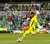 June 4th 2017, Aviva Stadium, Dublin, Ireland; International Friendly, Ireland versus Uruguay;  Keiren Westwood of Ireland takes a goal kick