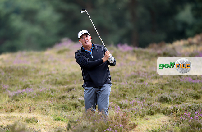 Duffy Waldorf of USA in action during the First Round of The Senior Open at Sunningdale Golf Club, Sunningdale, England. Picture: Golffile | Richard Martin-Roberts<br /> All photo usage must carry mandatory copyright credit (&copy; Golffile | Richard Martin- Roberts)