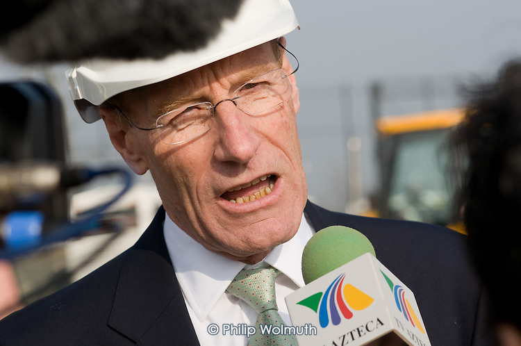 John Armitt, Chairman of the Olympic Delivery Authority, at the launch of the Plant Training Centre on the Olympic Park site in Stratford.