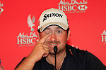 Graeme McDowell in the interview room during Day 2 Friday of the Abu Dhabi HSBC Golf Championship, 21st January 2011..(Picture Eoin Clarke/www.golffile.ie)