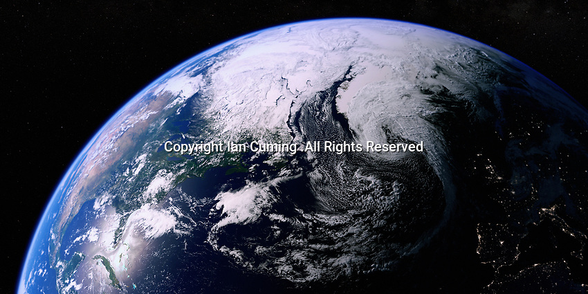 The North Atlantic Ocean from space