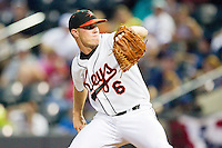 Carolina League All-Star pitcher Dylan Bundy of the Frederick Keys in action against the California League All-Stars during the 2012 California-Carolina League All-Star Game at BB&T Ballpark on June 19, 2012 in Winston-Salem, North Carolina.  The Carolina League defeated the California League 9-1.  (Brian Westerholt/Four Seam Images)