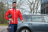 Ron Henry of Stevenage arrives during Stevenage vs Cambridge United, Sky Bet EFL League 2 Football at the Lamex Stadium on 14th April 2018