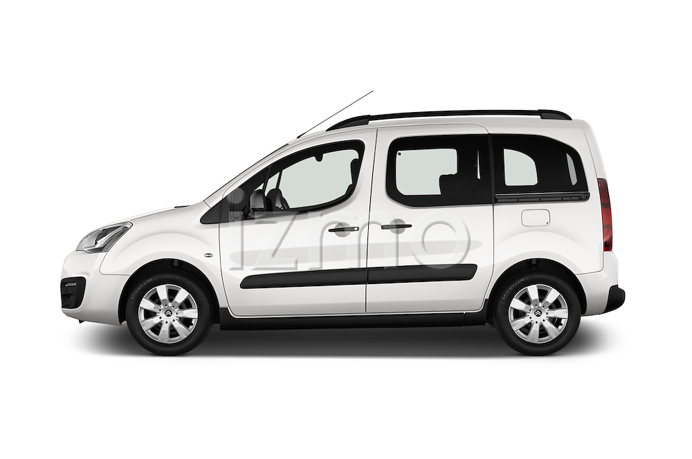 Car Driver side profile view of a 2016 Citroen BERLINGO-MULTISPACE XTR+ 5 Door Mini MPV Side View