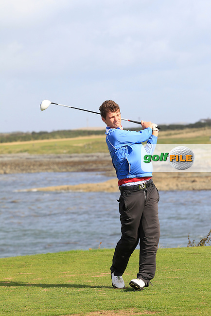 Dan Hinds (City of Derry) on the 13th tee during Round 3 of the Irish Youths Amateur Close Championship in Ardglass Golf Club on Friday 29th August 2014.<br /> Picture:  Thos Caffrey / www.golffile.ie