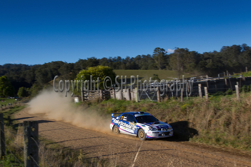 Mark BEARD NSW Mark WILLARD NSW Subaru Impreza WRX Sti P5.Action from WRC Rally Australia Coffs Harbour..10th of September 2011..Conditions of Use. This image is intended for editorial use only (print or electronic). Any further use requires additional clearance. Photo:  Simon Hodgson