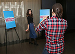 "Will Swenson and Sara Bareilles attend the Meet the new cast of ""Waitress"" at St. Cloud Rooftop Restaurant at The Knickerbocker Hotel on March 23, 2017 in New York City."