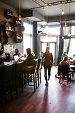 USA, California, San Francisco, NOPA, Vinyl Coffee and Wine Bar