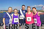 from left Carmel Ross, Anne Kelliher, Micheal ? Dubhghaill Maureen Keenan and Fiona O'Connor pictured at the Rose of Tralee International 10k Race in Tralee on Sunday.