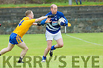 Eoin Fitzgerald Spa tackles Mark Healy Laune Rangersl during their SFL Div 2 game in Spa on Sunday