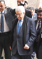 NAPOLI CONFERIMENTO DELLA CITTADINANZA ONORARIA AL PRESIDENTE DELL'AUTORITA PALESTINESE.NELLA FOTO ABU MAZEN AL MASCHIO ANGIOINO.FOTO CIRO DE LUCA Palestinian Authority President, Mahmoud Abbas  awarded honorary citizenship by Mayor of Naples, Luigi de Magistris  , during a ceremony in Naples