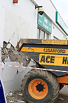 Truck Crashed in to Top Garage on the Donore Road...(Photo credit should read Jenny Matthews www.newsfile.ie)....This Picture has been sent you under the conditions enclosed by:.Newsfile Ltd..The Studio,.Millmount Abbey,.Drogheda,.Co Meath..Ireland..Tel: +353(0)41-9871240.Fax: +353(0)41-9871260.GSM: +353(0)86-2500958.email: pictures@newsfile.ie.www.newsfile.ie.