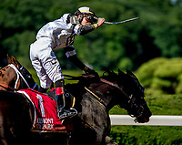 ELMONT, NY - JULY 09: Limousine Liberal #1, ridden by Jose Ortiz, outduels Whitmore #2, ridden by Ricardo Santana, Jr., to win the  Belmont Sprint Championship during the Stars and Stripes Racing Festival  at Belmont Park on July 7, 2018 in Elmont, New York. (Photo by Diana Cohen/Eclipse Sportswire/Getty Images)