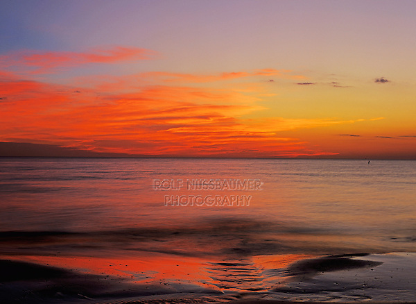 Sunset at beach, Fort Myers, Florida, USA