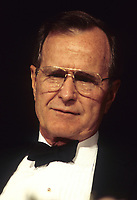 ***FILE PHOTO*** George H.W. Bush Has Passed Away<br /> Washington DC., USA,  May 1992<br /> President George H.W. Bush. in Black tie at the White House Correspondents dinner. <br /> CAP/MPI/MRN<br /> &copy;MRN/MPI/Capital Pictures