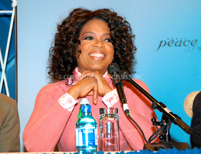 WWW.ACEPIXS.COM . . . . .  ... . . . . US SALES ONLY . . . . ...Oslo, Norway, December 11, 2004: Oprah Winfrey at a Nobel Peace Prize Concert press conference. Please byline: M. Delucci - FAMOUS - ACE PICTURES.... . . . .  ....Ace Pictures, Inc:  ..Alecsey Boldeskul (646) 267-6913 ..Philip Vaughan (646) 769-0430..e-mail: info@acepixs.com..web: http://www.acepixs.com