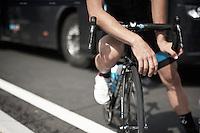 Bernie Eisel (AUT/SKY) ever so cool at the start<br /> <br /> 2014 Tour de France<br /> stage 15: Tallard - Nîmes (222km)