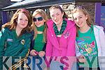 Enjoying the St Patricks Day parade in Dingle were Erica Scanlon,Mice?la Ni? Mhuircheartaigh,Cli?odhna Ni? Bheaglaoch, Ciara Flannery